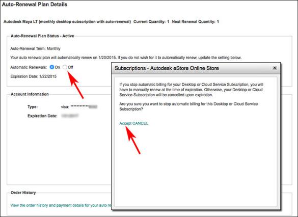 Cancel Autodesk store step 3